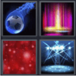 4 pics 1 word blue soccer ball