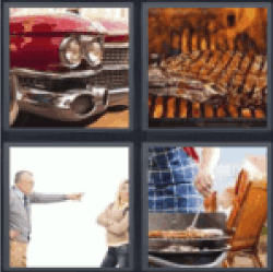 4 pics 1 word red classic car