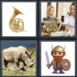 4-pics-1-word-horns