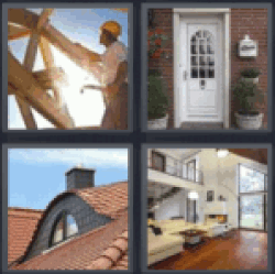 4 pics 1 word man building a house