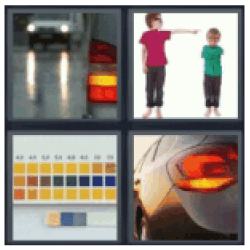 4 pics 1 word car lights and kid pointing