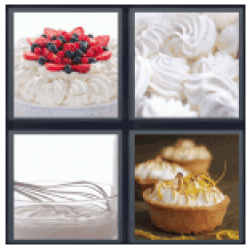 4-pics-1-word-meringue