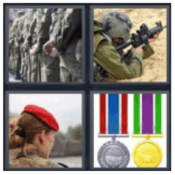 4-pics-1-word-military