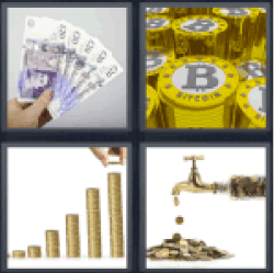 4-pics-1-word-money