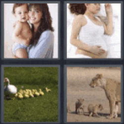4 Pics 1 Word Woman and baby