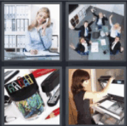 4-pics-1-word-office