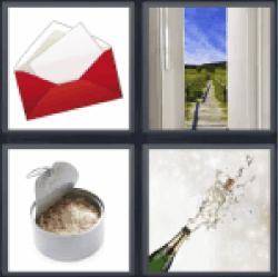 4-pics-1-word-opened
