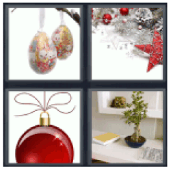 4-pics-1-word-ornament