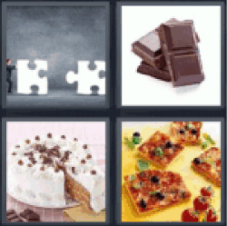 4 Pics 1 Word Two puzzle pieces