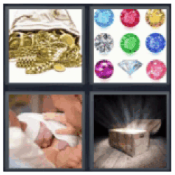 4 pics 1 word gold chains