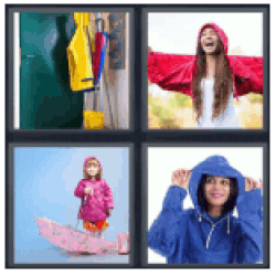 4-pics-1-word-raincoat