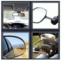 4-pics-1-word-rearview