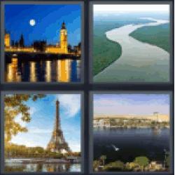 4-pics-1-word-river