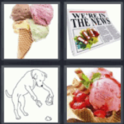 4 pics 1 word ice cream
