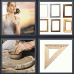 4 pics 1 word girl running