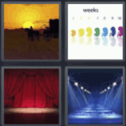 4 Pics 1 Word Sunset
