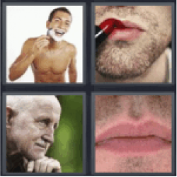 4 pics 1 word man shaving
