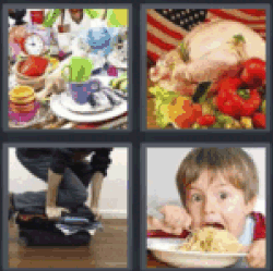 4 pics 1 word dirty dishes