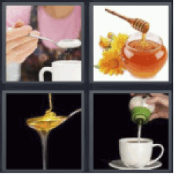 4 pics 1 word sugar in coffee