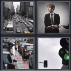 4 Pics 1 Word Cars on the road
