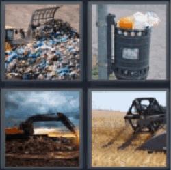 4 Pics 1 Word Garbage dump