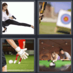 4 Pics 1 Word girl with gun
