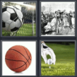 4 pics 1 word soccer ball