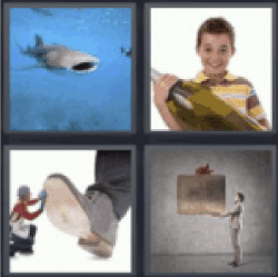 4 pics 1 word shark big shoe