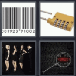 4 pics 1 word padlock password