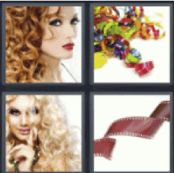 4 pics 1 word girl with curly red hair