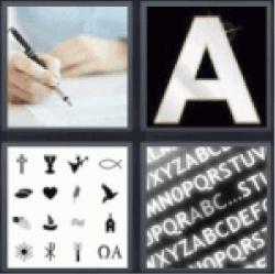 4-pics-1-word-font
