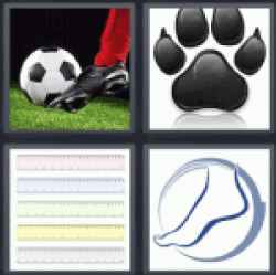 4 Pics 1 Word soccer player shooting