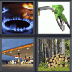 4 Pics 1 Word flames fire cooking