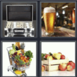4 pics 1 word case of money