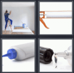 4 Pics 1 Word man painting a room