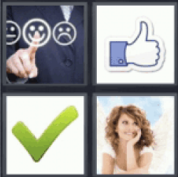 4 pics 1 word thumbs up
