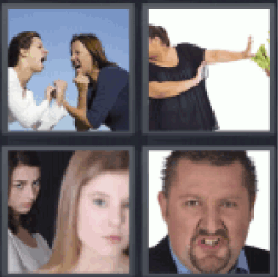 4 Pics 1 Word two women fighting
