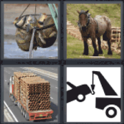 4 Pics 1 Word draft horse