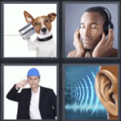 4 Pics 1 Word man with headphones
