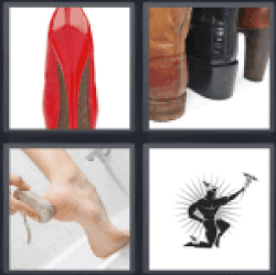 4 Pics 1 Word red shoe