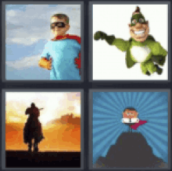 4 pics 1 word kid superhero