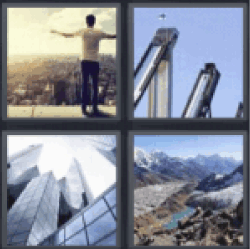 4 pics 1 word man on rooftop