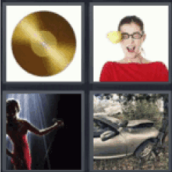 4 pics 1 word gold record