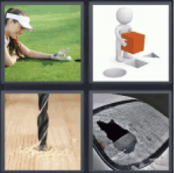 4 Pics 1 Word woman playing golf