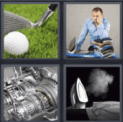 4 pics 1 word golf club and ball