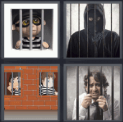 4 Pics 1 Word arrested man