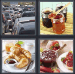4 Pics 1 Word jar of honey
