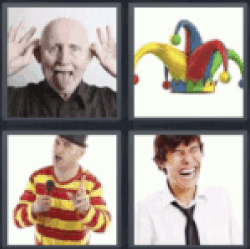 4 Pics 1 Word Man making fun
