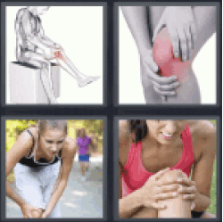 4 Pics 1 Word women doing sports