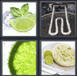 4 pics 1 word ice cubes and lemon
